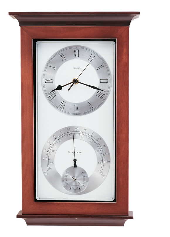 Bulova Yarmouth Wooden Quartz Wall Clock