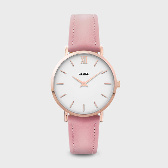 CLUSE Minuit Rose Gold, White, Pink