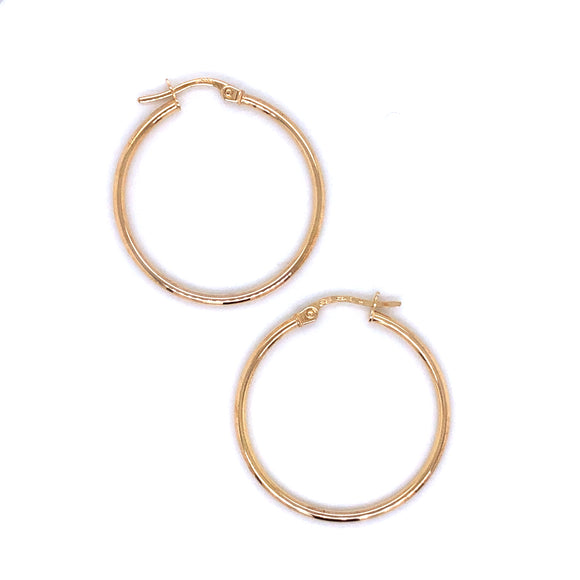9ct Gold  Skinny Hoop Earrings