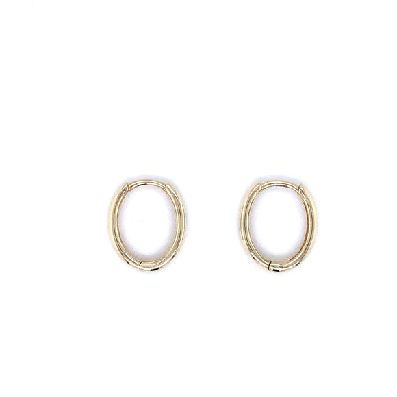 9ct Gold Small Oval Huggie Earrings
