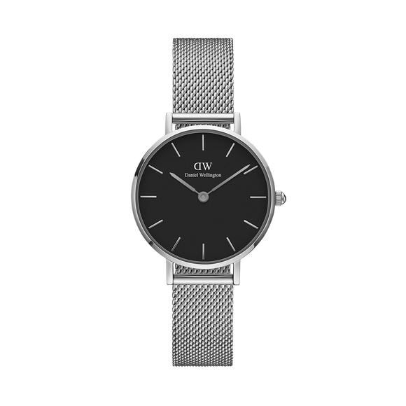 Daniel Wellington - Silver 'Petite Sterling' Mesh Bracelet 28mm Watch