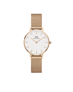 Daniel Wellington - Rose Gold 'Petite Melrose' Mesh Bracelet 28mm Watch