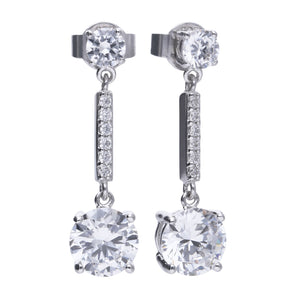 Diamonfire Zirconia Pendulum Earrings E5578