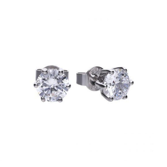 Diamonfire Zirconia Classic 2.00ct Solitaire Earrings E5581