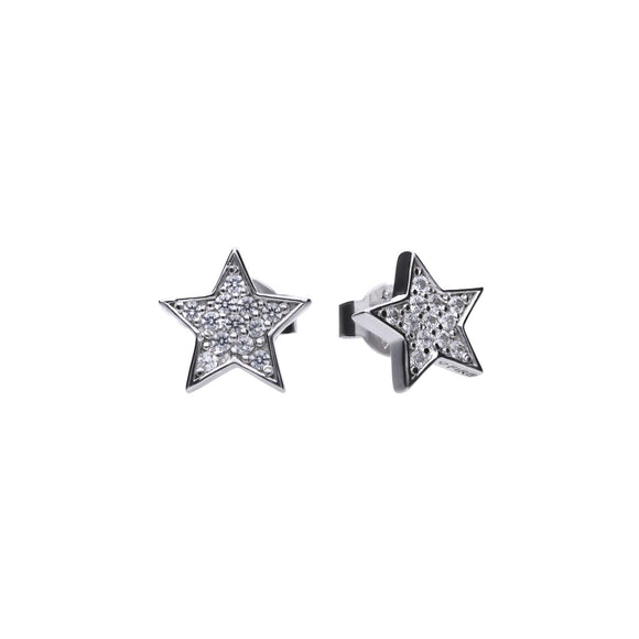 Diamonfire Zirconia Glittering Star Earrings E5613