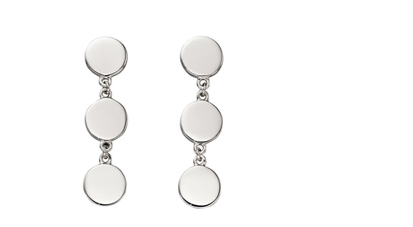 Fiorelli Silver Flat Disc Earrings