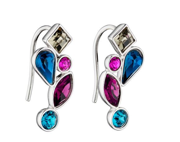 Fiorelli Abstract Mix Stone Earrings