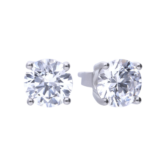 Diamonfire Zirconia 4-Claw Stud Earrings 2.00ct E5908
