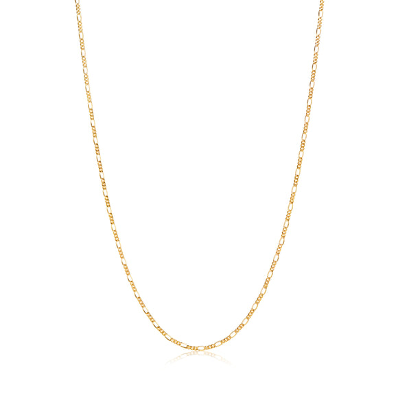 SIF JAKOBS NECKLACE FIGARO - 18K GOLD PLATED