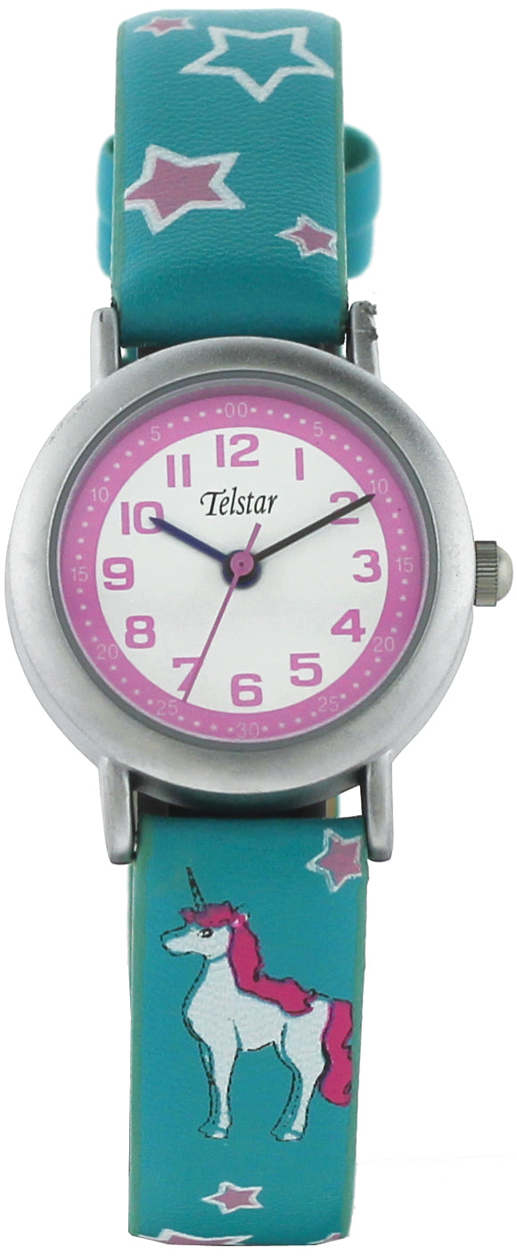 Telstar Girl's Watch Turquoise Unicorn