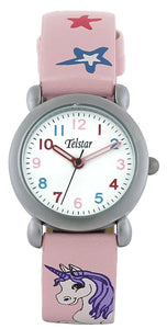 Telstar Girl's Watch Pink Unicorn