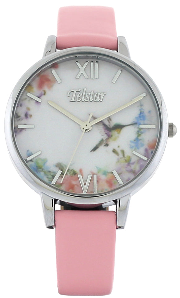 Telstar Pink Floral Watch