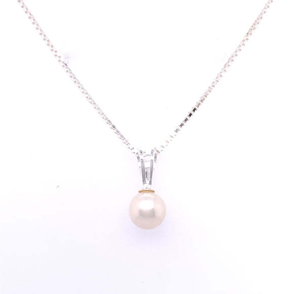 Sterling Silver Pearl Drop Pendant