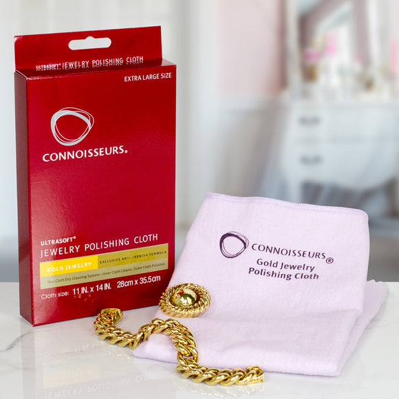 Connoisseurs UltraSoft® Gold Jewellery Polishing Cloth