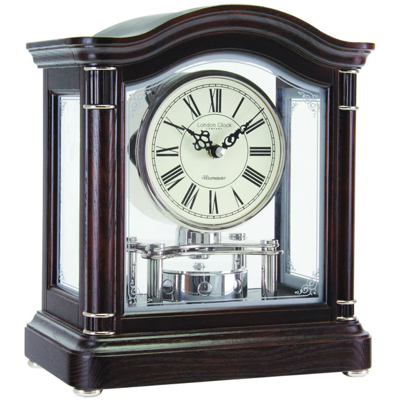 London Clock Co Quartz Chime Wooden Anniversary Mantel Clock