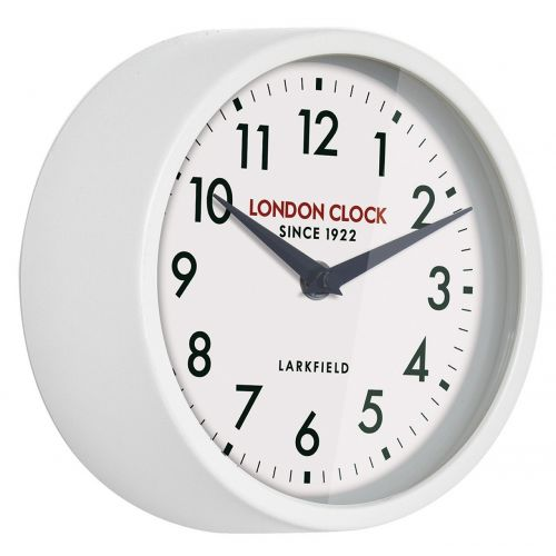 London Clock Co White Railway Quartz Wall Clock