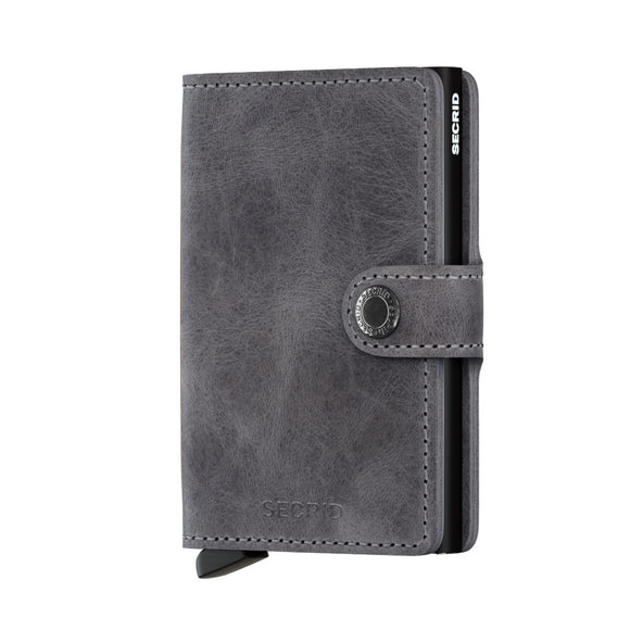 Secrid Miniwallet Vintage Grey Leather