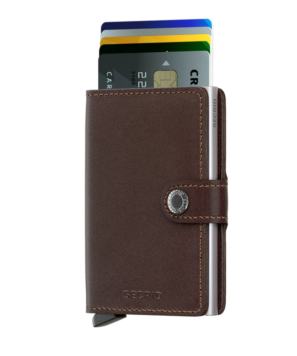 Secrid Miniwallet Original Dark Brown Leather