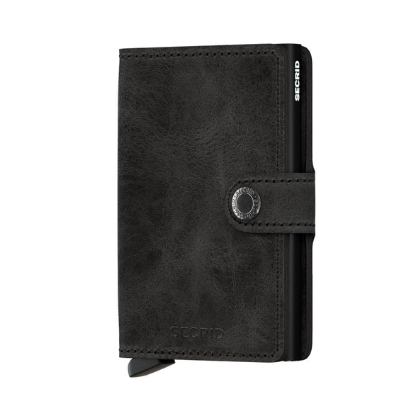 Secrid Miniwallet Vintage Black Leather