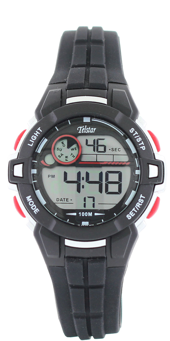Telstar Boys Black Digital Watch