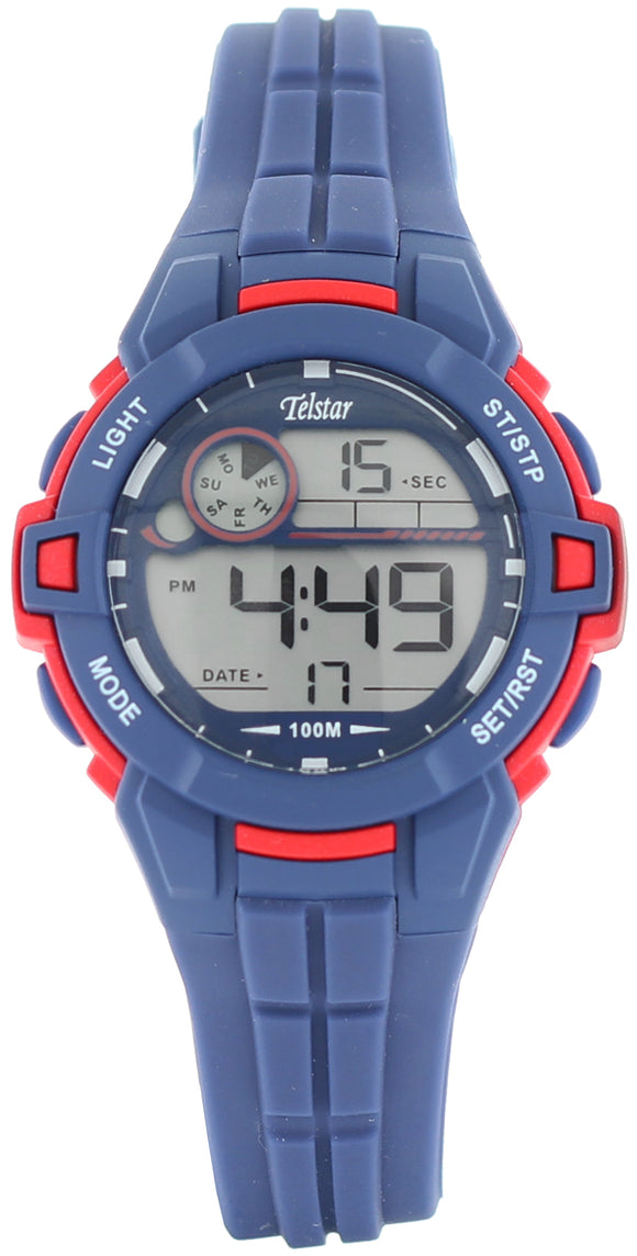Telstar Boys Blue & Red Digital Watch
