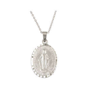 Sterling Silver Miraculous Medal Large