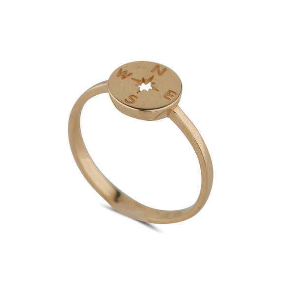 9ct Gold Compass Ring