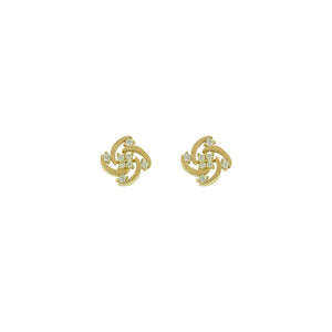 9ct Gold Celtic CZ Knot Earrings