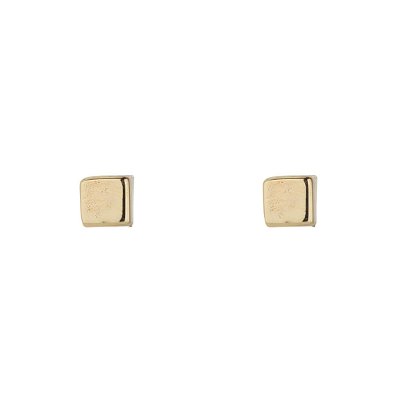 9ct Gold Tiny Cube Earrings