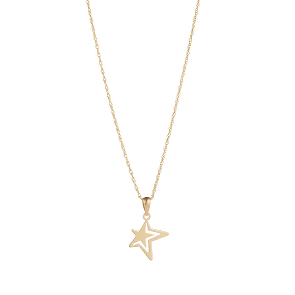 9ct Gold Star in Star Pendant