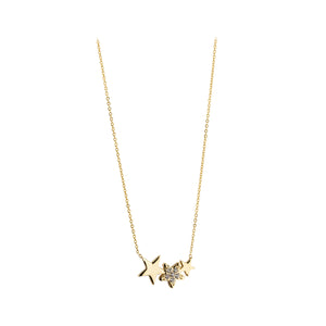 9ct Gold Star Constellation CZ Pendant