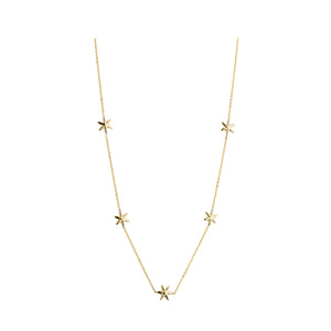 9ct Gold Five Tiny Stars Necklet