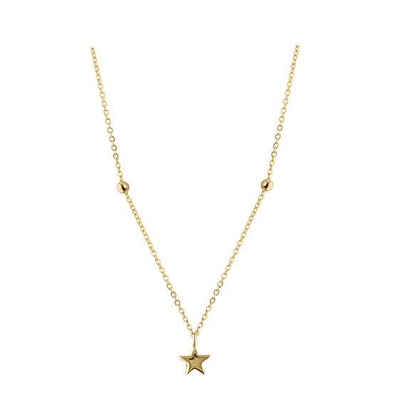 9ct Gold Tiny Star Pendant