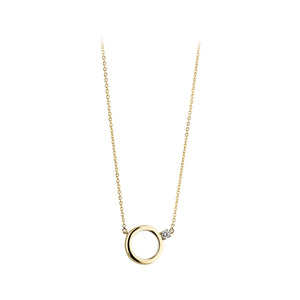 9ct Gold Circle of Life  CZ Pendant