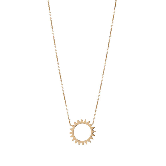 9ct Gold Open Sun Pendant
