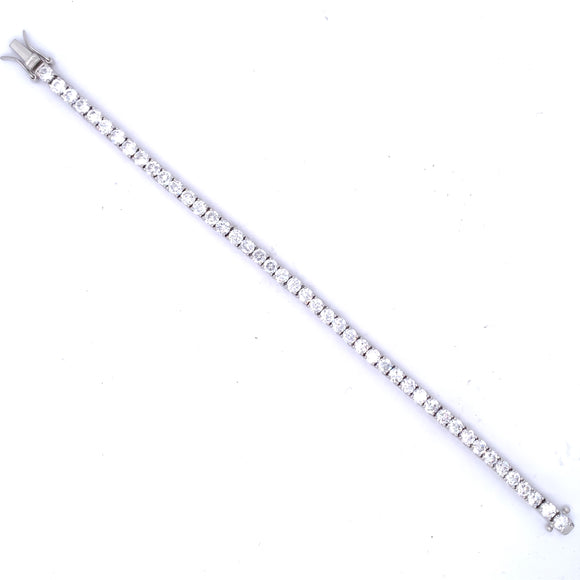 Sterling Silver 4mm CZ Tennis Line Bracelet