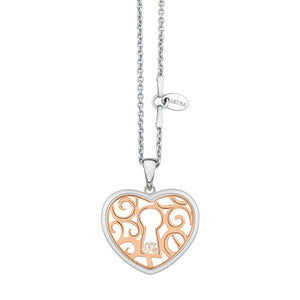 ASTRA Sterling Silver Open Heart Pendant