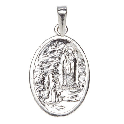 Sterling Silver Our Lady of Lourdes Medal