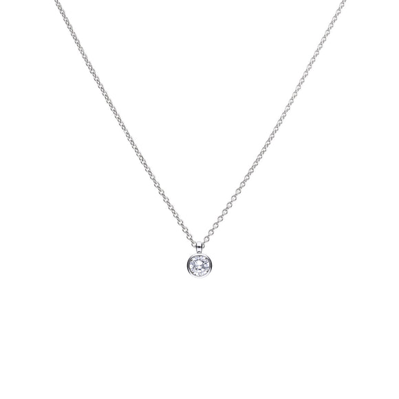 Diamonfire Zirconia Bezel Set 2.00ct Solitaire Pendant P4645