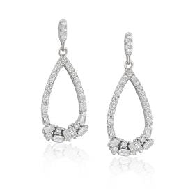 Paul Costelloe Silver CZ Teardrop Earrings