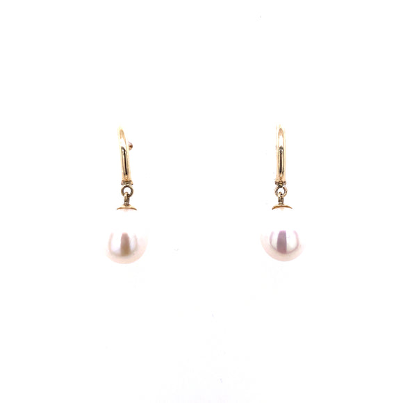 9ct Gold Teardrop Pearl Drop Earrings