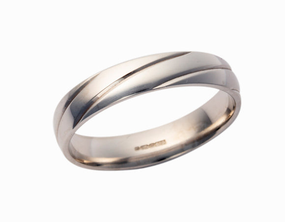 Men's 5mm Wedding Band Pattern 290