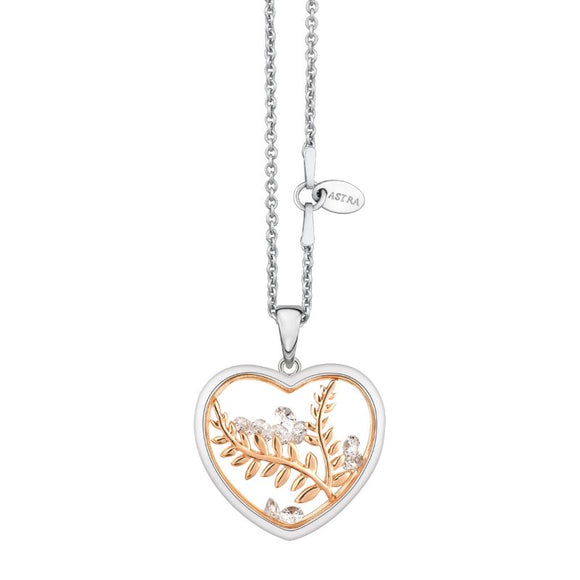 ASTRA Sterling Silver Peaceful Heart Pendant