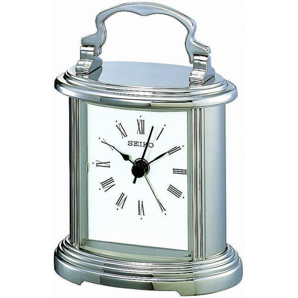 Seiko Quartz Silver Boutique Carriage Alarm Clock