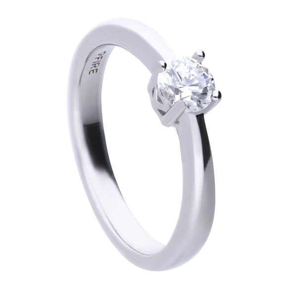 Diamonfire 4-Claw CZ Solitaire Ring 0.50ct R3750