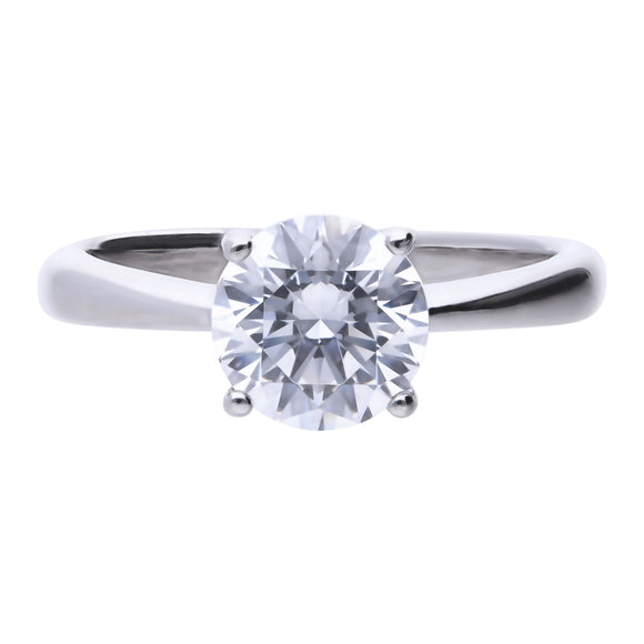 Diamonfire 4-Claw CZ Solitaire Ring 2.00ct R3753