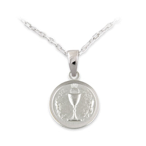 Sterling Silver Small Communion Medal