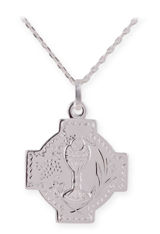 Sterling Silver Communion Medal