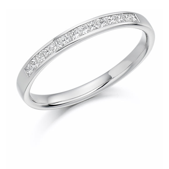 Raphael 18ct White Gold Princess Diamond Channel-set Eternity Ring