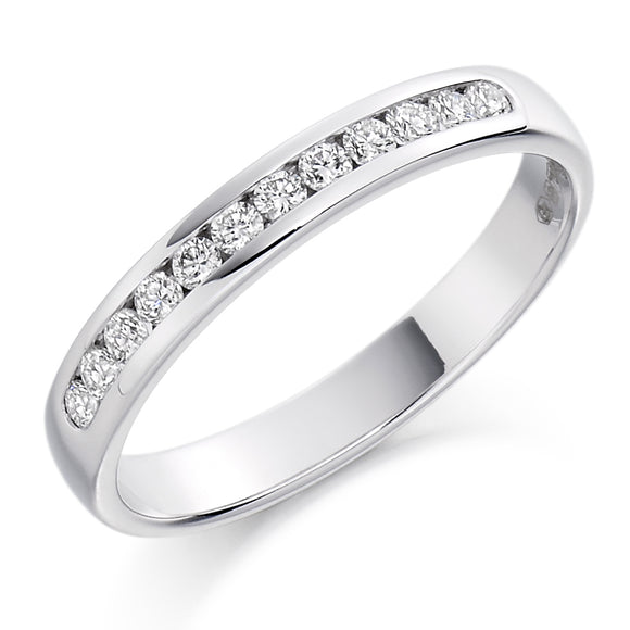 Raphael 18ct White Gold Diamond Channel-set Eternity Ring